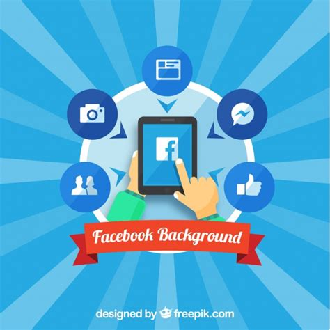 facebook layout vector free download sunburst background with facebook elements vector free