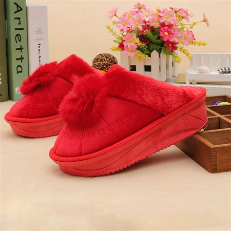 fashion house shoes thick bottom winter house slippers for women fashion pantufa casual indoor home shoes fluffy
