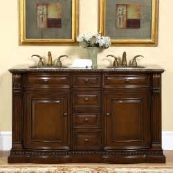 60 inch bathroom double sink vanity cabinet granite stone counter top