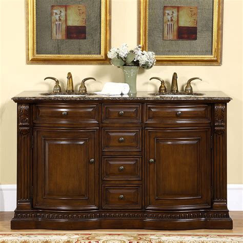 Bathroom With Two Vanities by 60 Inch Bathroom Sink Vanity Cabinet Granite