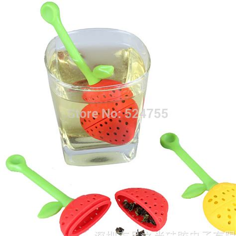 Strawberry Silicone Tea Bag Filter Saringan Teh new 5pcs lot strawberry insulation silicone tea bags mold tea cup infuser filter device
