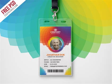 cool id card design template corporate branding identity card free psd psdfreebies