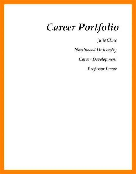 cover page for resume portfolio resume portfolio cover page exles contemporary