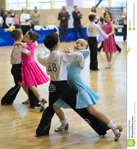 kids swing dancing sport dance competition among children editorial