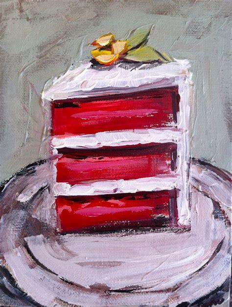 cake painting velvet cake painting