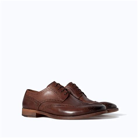 zara shoes zara soft shoe in brown for lyst