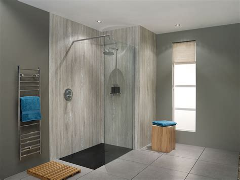 Shower Wall Panels For Bathrooms by Silver Travertine Nuance Bathroom Wall Panel