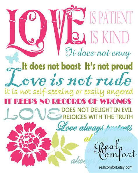 printable version of love is patient items similar to love is patient i corinthians 13