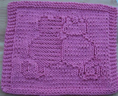 pattern for simple knitted dishcloth free knit dishcloth patterns snuggling cats knit