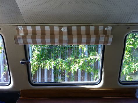 van window curtains cer poppered blinds delilah s vw cer furnishings