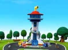 paw patrol towers and guys on