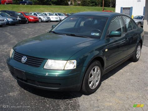 Interior Silver Paint 1999 Royal Green Pearl Volkswagen Passat Glx V6 Sedan