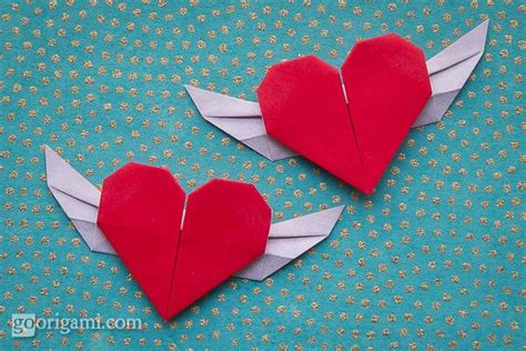 Folded Paper Hearts - orgami on origami easy origami and origami paper