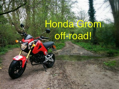 honda grom road tires honda grom msx125 roading with a yamaha dt