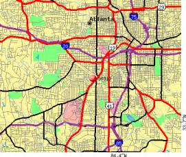 atlanta zip code map map of atlanta zip codes afputra