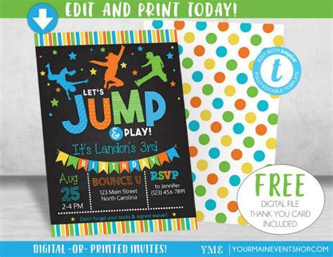 14 Boy Birthday Invitation Designs Templates Psd Ai Free Premium Templates Free Bounce Invitation Template