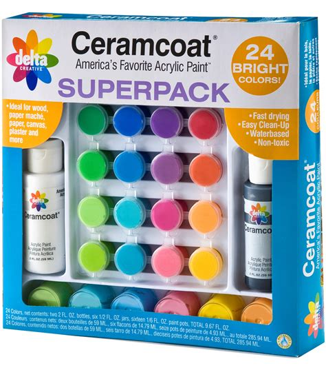 ceramcoat acrylic paint superpack bright colors jo