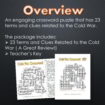 Cold War Terms Worksheet