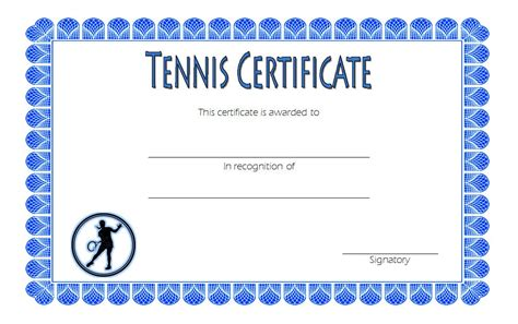 tennis gift certificate template tennis certificate 5 the best template collection