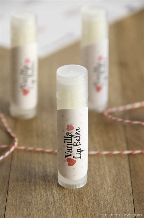 Homemade Vanilla Lip Balm Diy Lip Balm Label Template