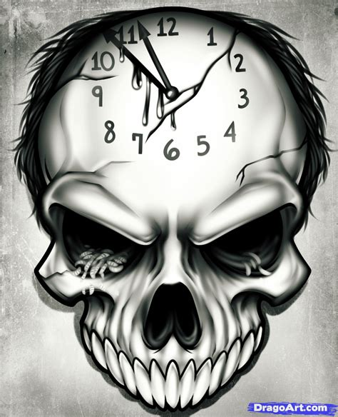 tattoos to draw how to draw a time step by step skulls pop