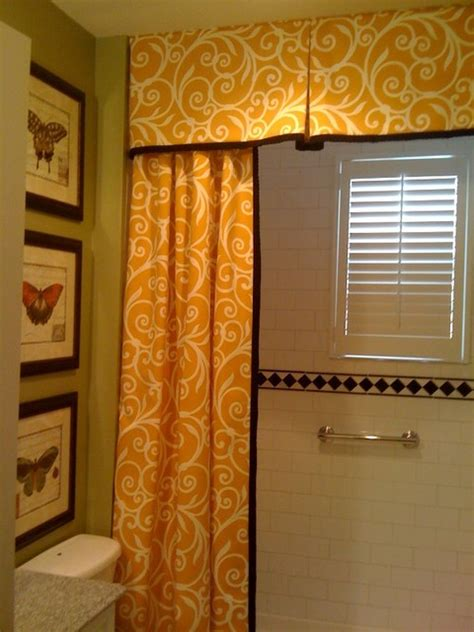 bathroom curtain valances shower curtain and valance traditional bathroom dc metro