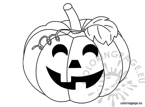 halloween pumpkin black and white coloring page