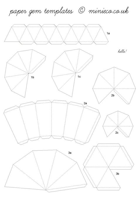 3d Paper Diamonds With Template Crafthubs Templates 3d Template Pdf