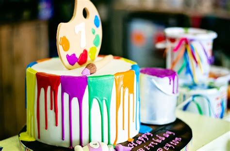 Auto Auf Kuchen Malen by Kara S Party Ideas Paint Drizzle Birthday Cake From A