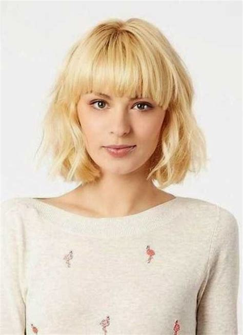 hairstyles with textured bangs textured bob cut with bangs