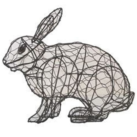 topiary rabbit frame rabbit running 23 x 29 x 11cm topiary mesh wire frame for
