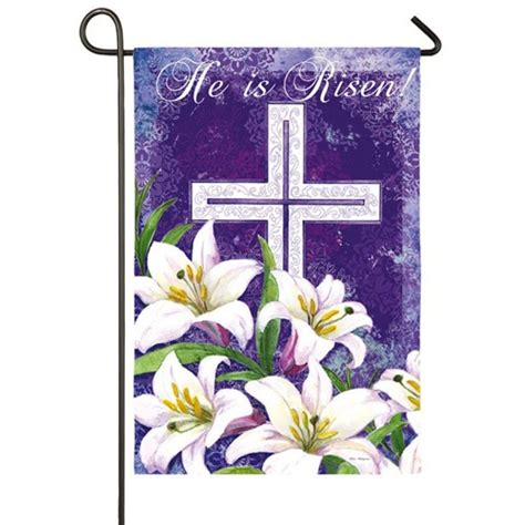 easter garden flag easter cross and lillies garden flag easter flags holidays