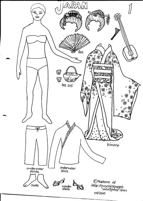 printable japanese paper dolls japanese paper dolls craft ideas pinterest