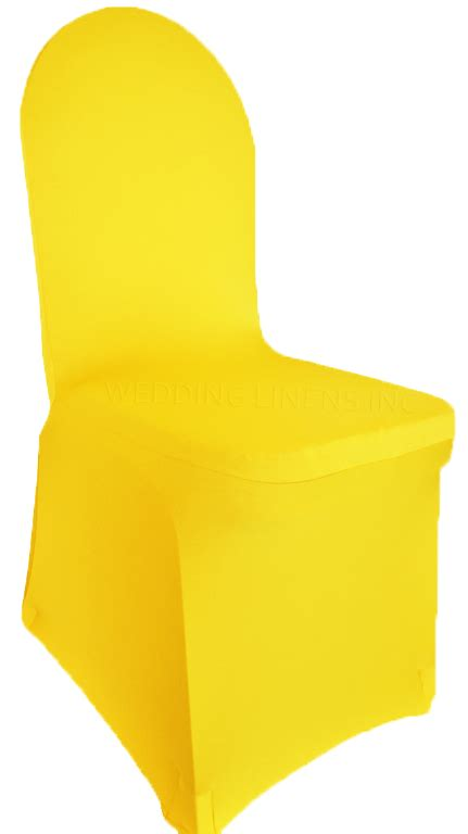 Yellow Chair Covers by Canary Yellow Spandex Stretch Banquet Chair Covers Sale