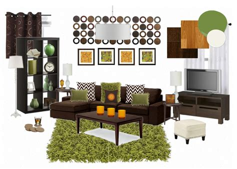 orange green and brown living room madcap frenzy graphic design diy and everything in between obsession and planning
