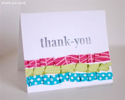 Easy Handmade Thank You Cards - handmade thank you card ruffled cover