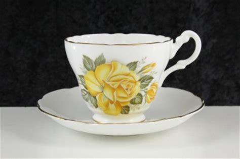 yellow rose pattern china vintage consort fine bone china made england yellow rose