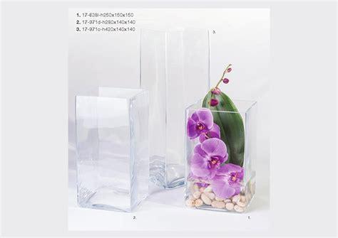 vasi in vetro quadrati serie vasi quadrati in vetro a forma di prisma h da 25 a 42