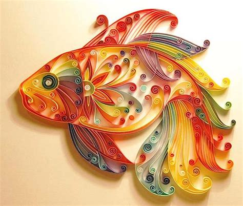 Quilling Paper Crafts - unique paper craft ideas and quilling designs from