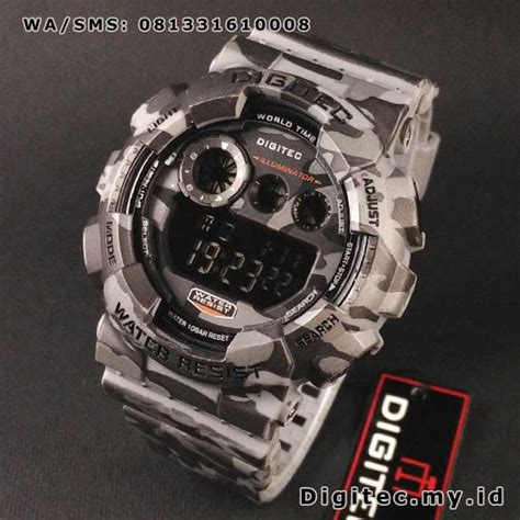 Digitec Digital Army Original digitec dg 2071t army digital loreng abu abu jam tangan