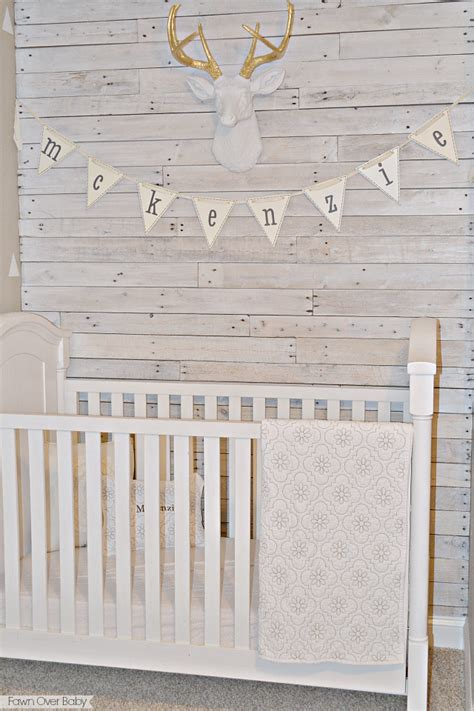 Pottery Barn Baby Bedding Fawn Over Baby Diy White Washed Pallet Wall