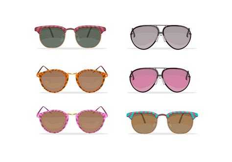 glasses vector oldschool sunglasses vectors download free vector art
