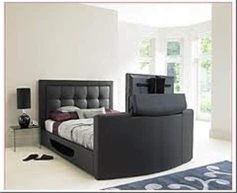 amazon com furniture bedroom amazon com luxury queen leather tv bed in black