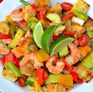 Link Gazpacho Salad by Grilled Gazpacho Salad W Shrimp Tips From Town