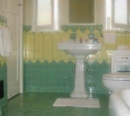 Bathroom Yellow And Green Beautiful Yellow And Mint Green Vintage Tile Bathroom From