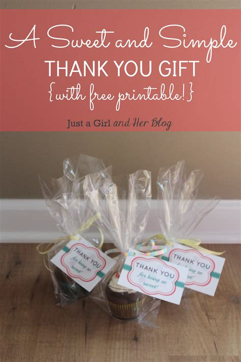 thank you for gift a sweet and simple thank you gift with free printable