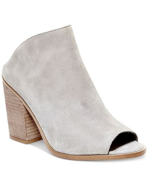 steve madden s nolla mules in gray grey suede lyst