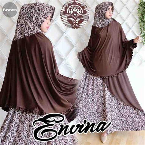 9189 Hanifah Syari Hitam Murah by Gamis Jersey Terbaru Envina Syari Coklat Model Baju
