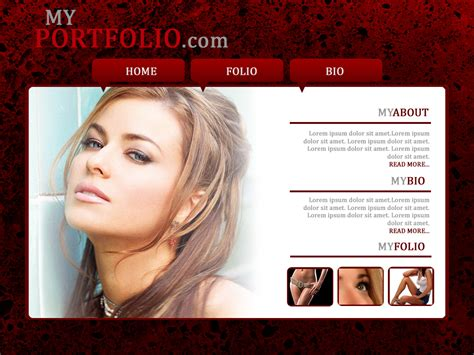 model portfolio template modeling portfolio web design by madpumpkin on deviantart