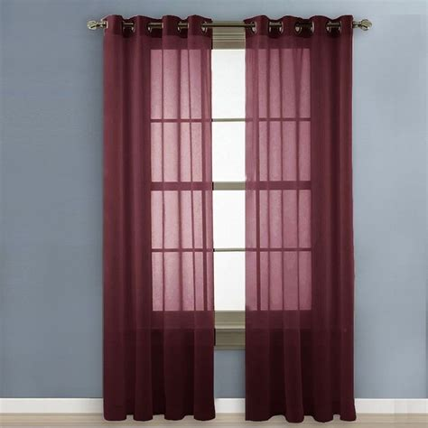 Burgundy Tab Top Curtains 17 Best Ideas About Burgundy Curtains On Pinterest White Curtain Rod Modern Living Room